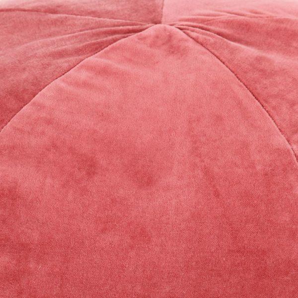 Pouf Baumwollsamt 50×35 cm Rosa
