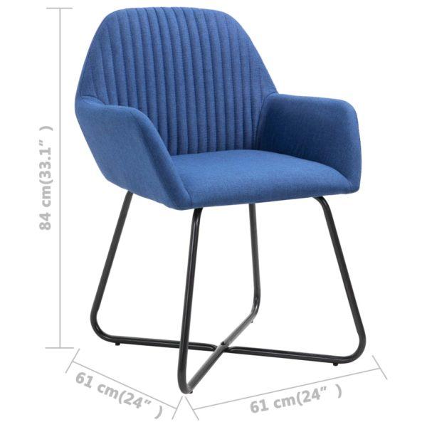 Esszimmerstühle 6 Stk. Blau Stoff