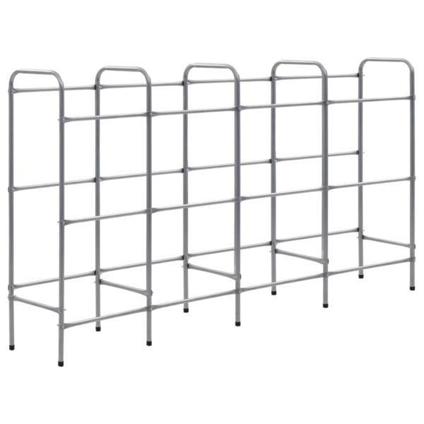 Lagerregal für 12 Kisten Silbern 190 x 33 x 116 cm Stahl