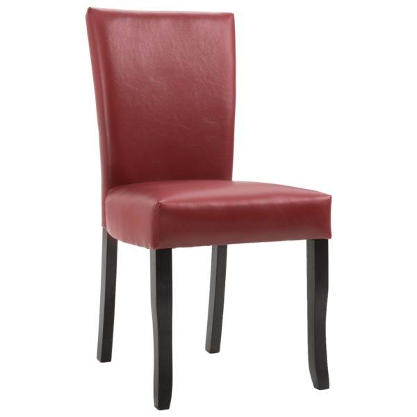 Esszimmerstühle 6 Stk. Weinrot Kunstleder