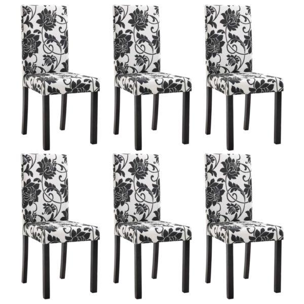 Esszimmerstühle 6 Stk. Stoff Schwarz