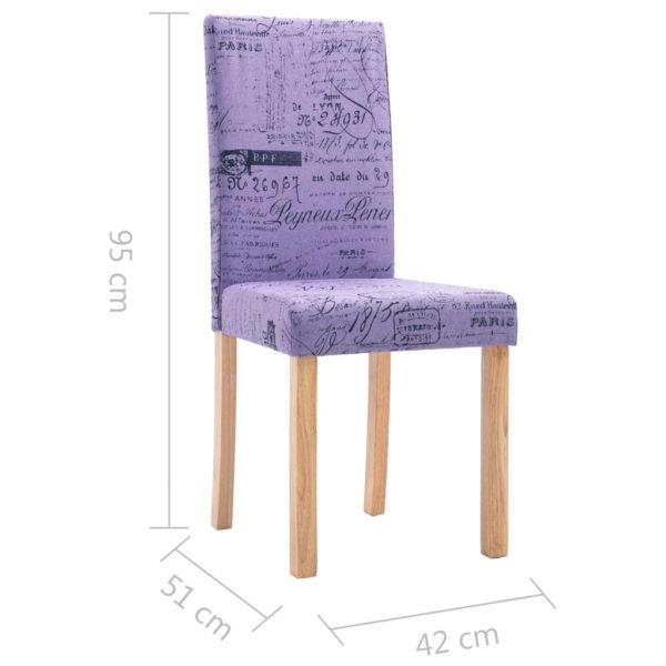 Esszimmerstühle 6 Stk. Stoff Lila