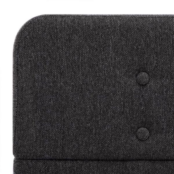 Bettgestell Dunkelgrau Sackleinen 100×200 cm