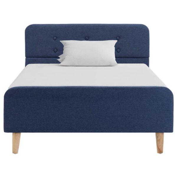 Bettgestell Blau Stoff 100×200 cm