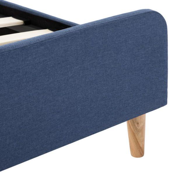 Bettgestell Blau Stoff 160×200 cm