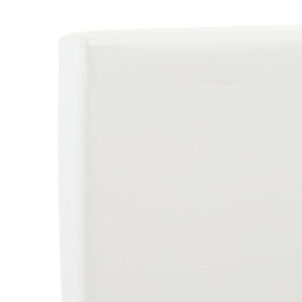 Bettgestell mit Schubladen Weiß Kunstleder 100 x 200 cm