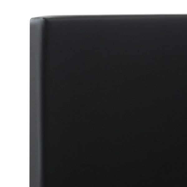 Bettgestell mit Schubladen Schwarz Kunstleder 90×200 cm