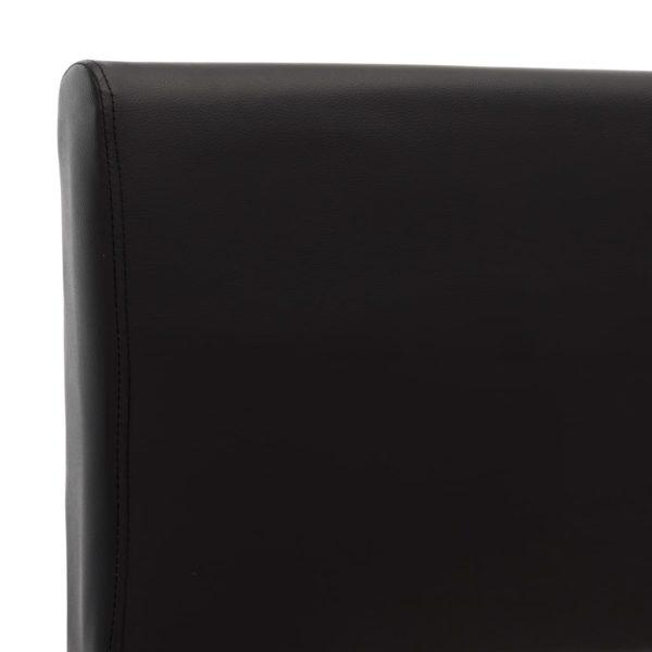 Bettgestell Schwarz Kunstleder 90 x 200 cm