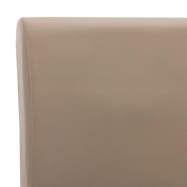 Bettgestell Cappuccino-Braun Kunstleder 140×200 cm