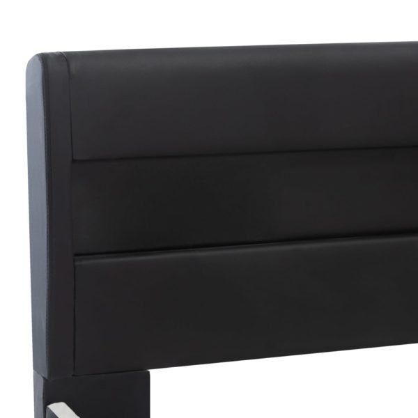 Bettgestell mit LED Schwarz Kunstleder 180 x 200 cm