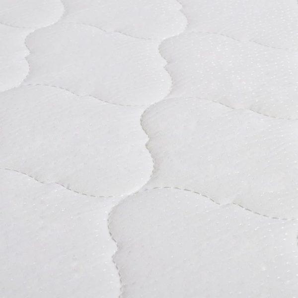 Bett mit Memory-Schaum-Matratze Hellgrau Stoff 90×200 cm