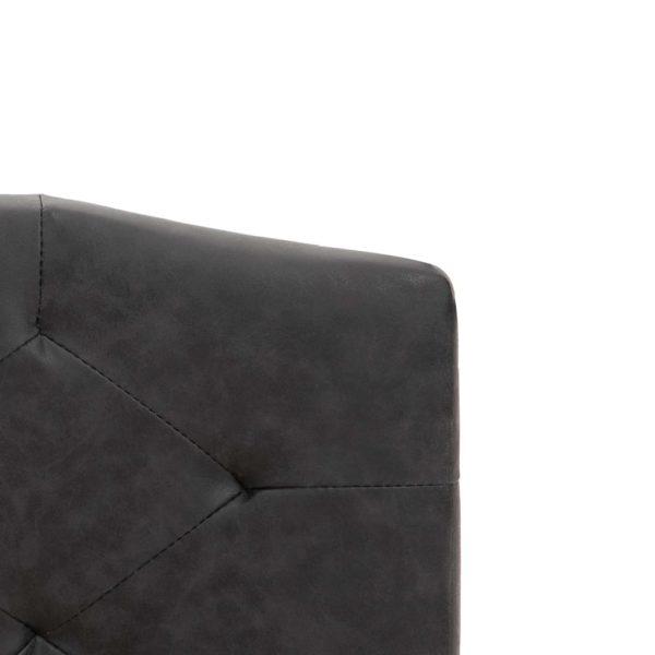 Bett mit Matratze Schwarz Stoff 160 x 200 cm