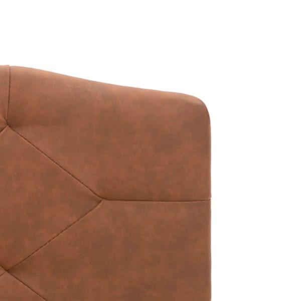 Bett mit Matratze Braun Stoff 180 x 200 cm