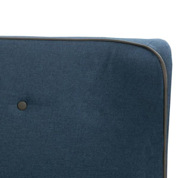 Bett mit Matratze Blau Stoff 90 x 200 cm