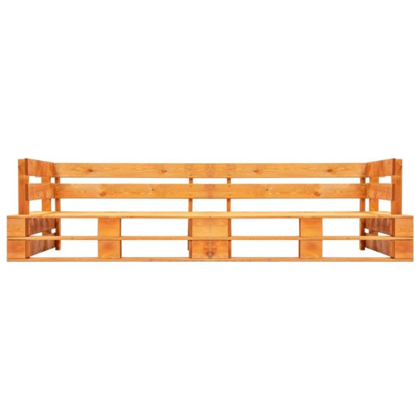 Garten-Palettensofa 2-Sitzer Honigbraun Holz