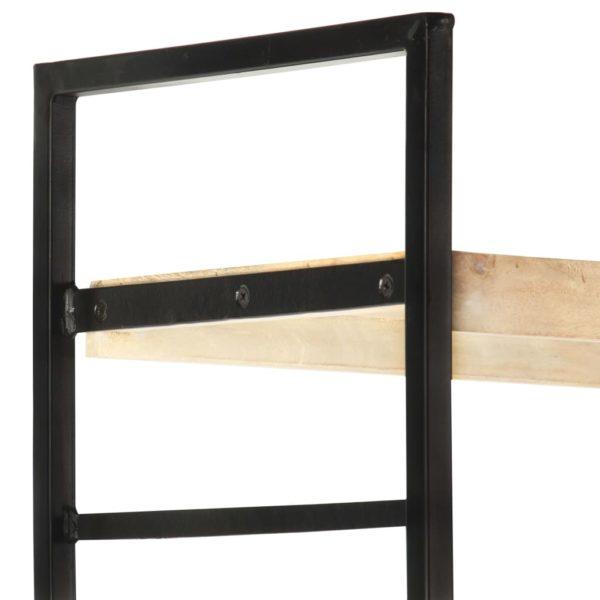 Bücherregal 4 Etagen 124x30x180 cm Mango Massivholz