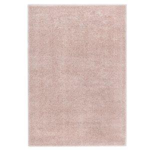 Hochflor-Teppich 80 x 150 cm Altrosa