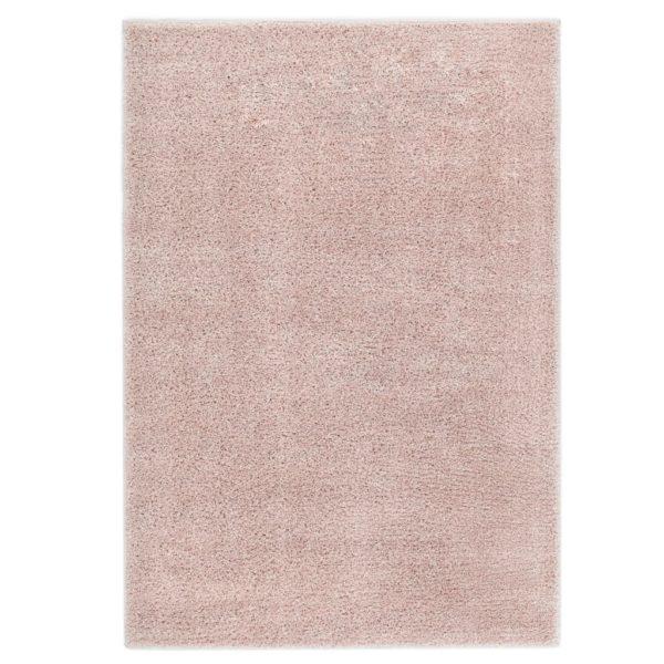 Hochflor-Teppich 140 x 200 cm Altrosa