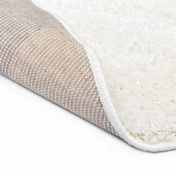 Hochflor-Teppich 67 cm Creme