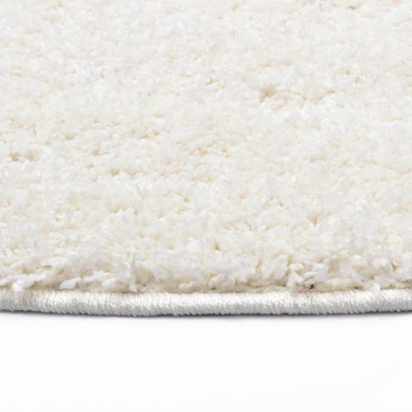 Hochflor-Teppich 120 cm Creme