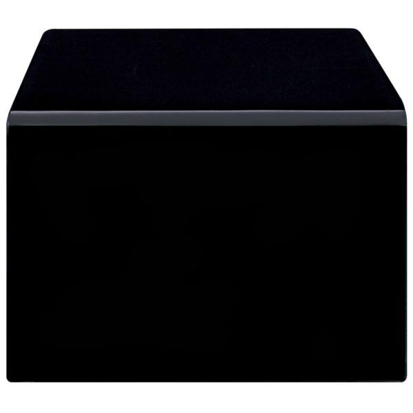 Couchtisch Schwarz 98 x 45 x 31 cm Hartglas