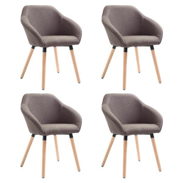 Esszimmerstühle 4 Stk. Taupe Stoff