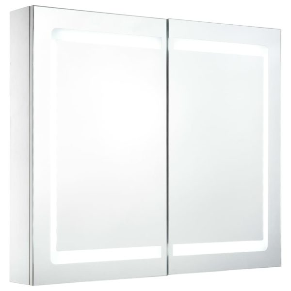 LED-Bad-Spiegelschrank 80 x 12,2 x 68 cm