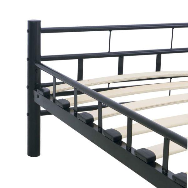 Bettgestell Schwarz Stahl 180×200 cm