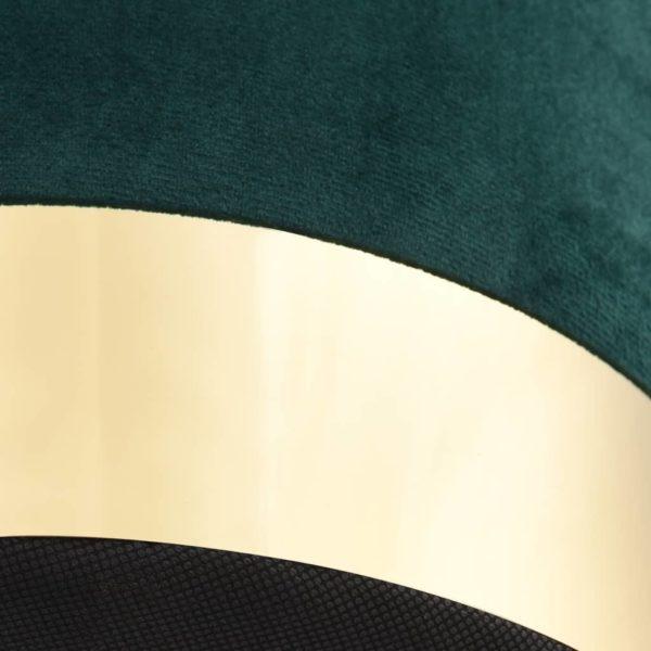 Hocker Dunkelgrün und Golden Samt