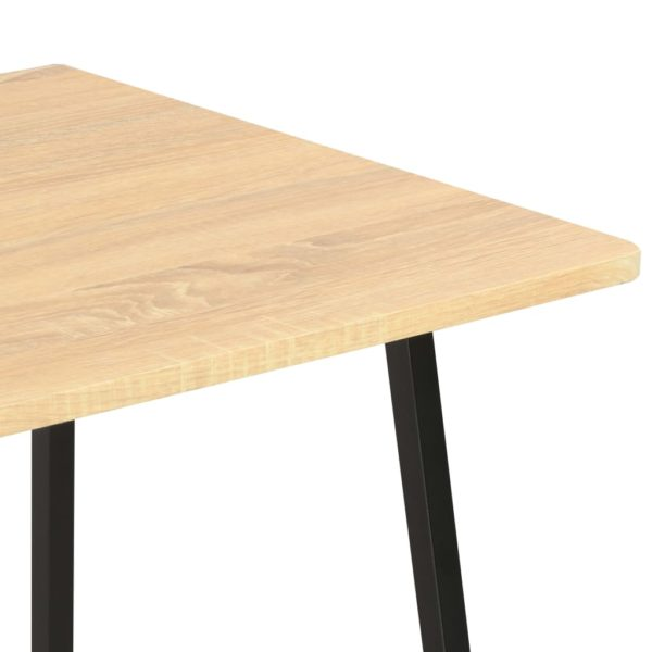 Schreibtisch mit Regaleinheit Schwarz und Eiche 102×50×117 cm