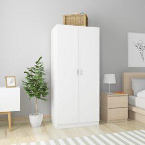 Kleiderschrank Weiß 80×52×180 cm Spanplatte