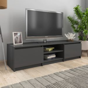 TV-Schrank Hochglanz-Grau 140×40×35,5 cm Spanplatte