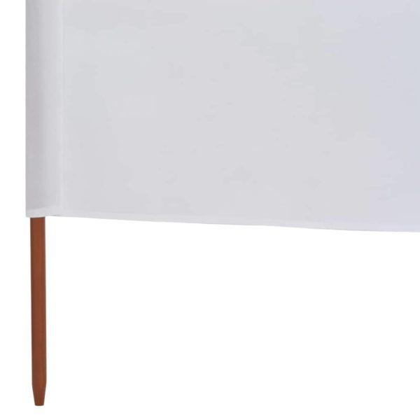 6-teiliges Windschutzgewebe 800 x 120 cm Sandweiß