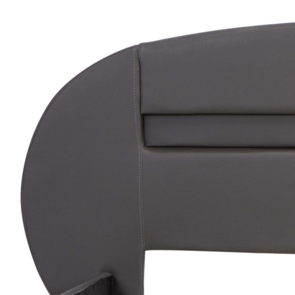 Bettgestell mit LED Grau Kunstleder 140×200 cm