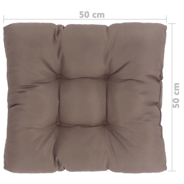 Garten-Sitzkissen Taupe 50×50×10 cm Stoff