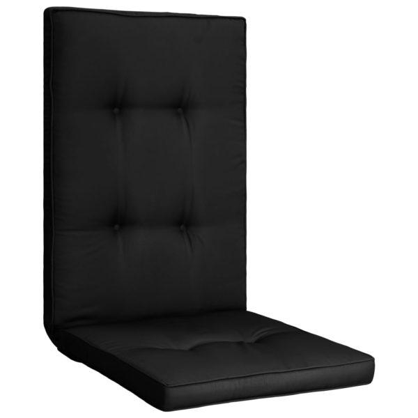 Gartenstuhl Auflage 2 Stk. Schwarz 120 x 50 x 5 cm