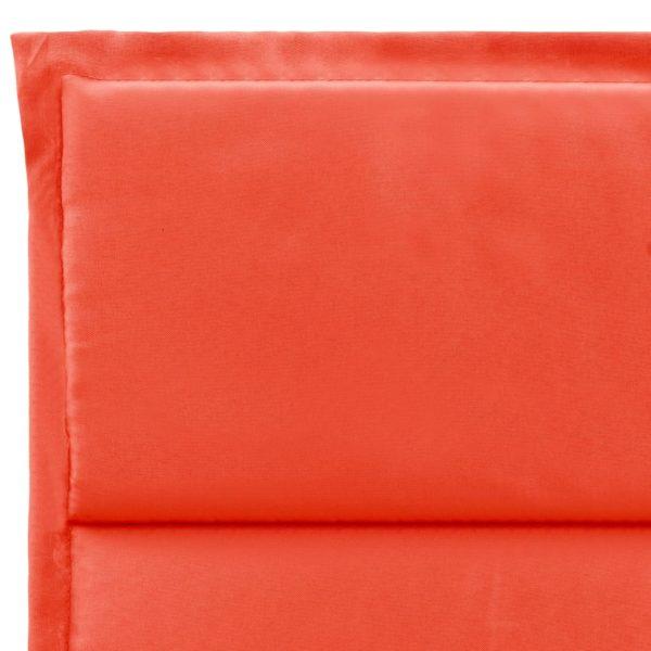 Sonnenliegen-Auflage Rot 190 x 60 x 3 cm