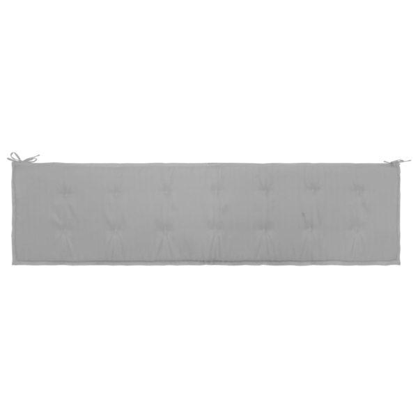 Gartenbank-Auflage Grau 200×50×3 cm