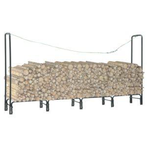 Brennholzregal Anthrazit 240×35×120 cm Stahl