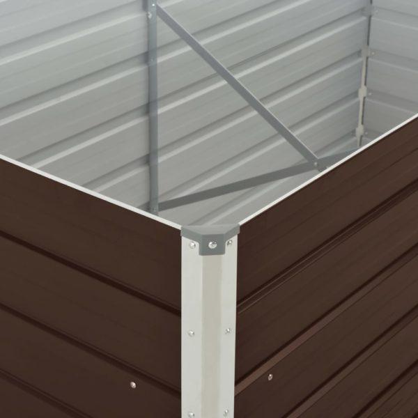 Hochbeet 160 x 80 x 45 cm Verzinkter Stahl Braun