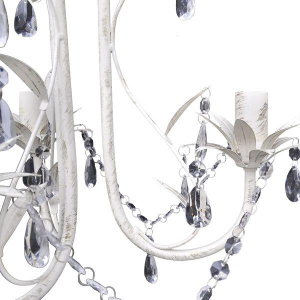 Kristall-Deckenleuchte Kronleuchter 4 Stk. Elegantes Weiß