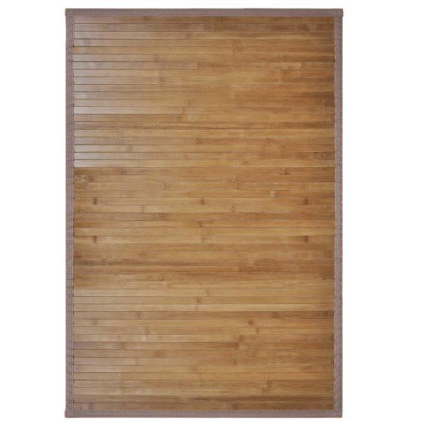 Bambus-Badematten 2 Stk. 60 x 90 cm Braun