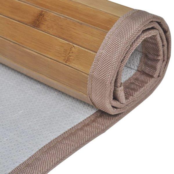 Bambus-Badematten 4 Stk. 60 x 90 cm Braun