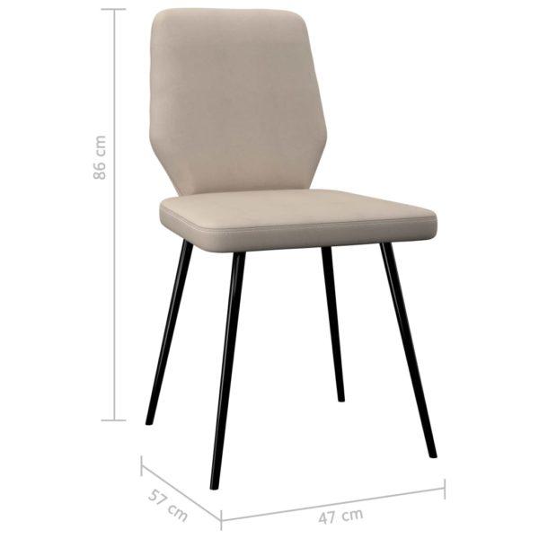 Esszimmerstühle 4 Stk. Creme Stoff