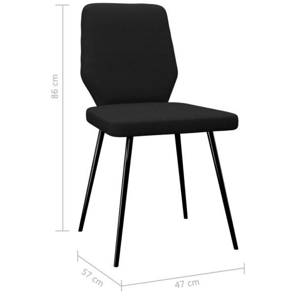 Esszimmerstühle 2 Stk. Schwarz Stoff