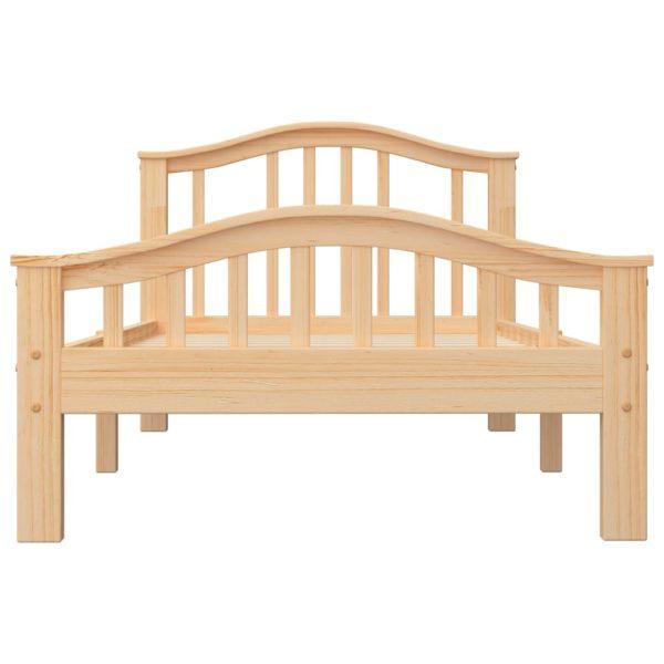 Bettgestell Massivholz Kiefer 100 × 200 cm
