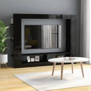 TV-Schrank Hochglanz-Schwarz 152 x 22 x 113 cm Spanplatte