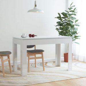 Esstisch Hochglanz-Weiß 120 x 60 x 76 cm Spanplatte
