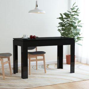 Esstisch Hochglanz-Schwarz 120 x 60 x 76 cm Spanplatte