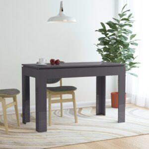 Esstisch Hochglanz-Grau 120 x 60 x 76 cm Spanplatte